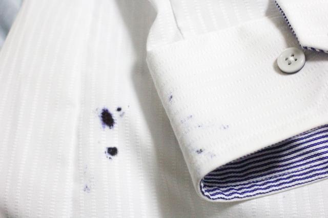 シャツについたボールペンの汚れをご家庭でクリーニング