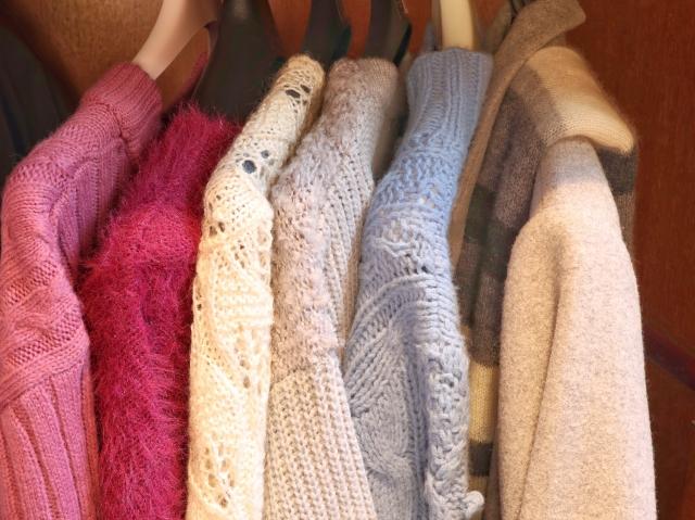 ボリューム袖ニットに適したコート!着用がきつい悩みを解消
