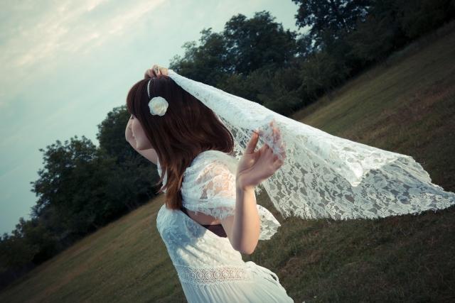 女子度を格段にアップ!スカートに白花柄をチョイス!