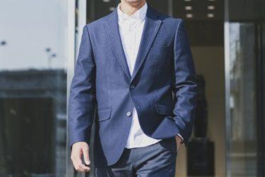 爽やかと誠実のジャケット!青でまとめた夏の着こなし!